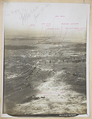 Image of 'Aeroplane Photographs, Front of First Army, Lens and Neighbourhood'