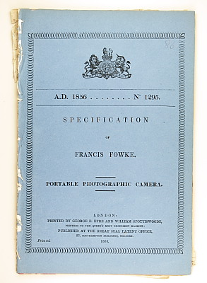 Image of Patent 1295, 1856 - Francis Fowke