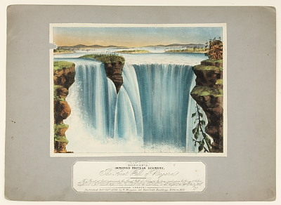 Image of Morgan's Improved Protean Scenery - No. 7 'The Great Fall of Niagara'