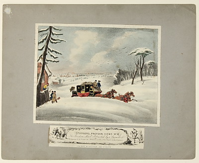 Image of Spooner's Protean Views - No. 16 'The London Mail Obstructed by a Snow Drift'